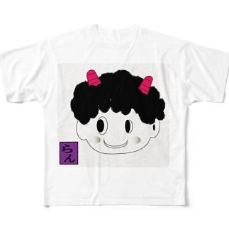 可愛い鬼嫁 Full graphic T-shirts