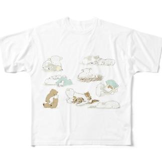 ねんね羊 Full graphic T-shirts