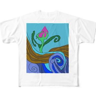 JUNSEN(純仙)大地の水脈 Full graphic T-shirts