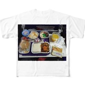 機内食 Full graphic T-shirts