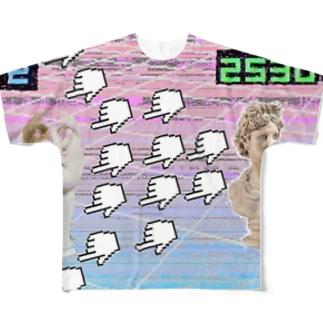 Vaporwaveっぽいやつ Full graphic T-shirts