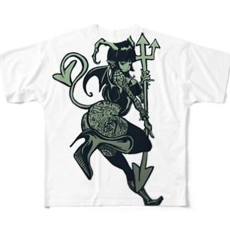 デビルタトゥ子 Full graphic T-shirts