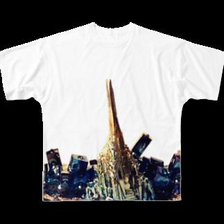 智叉猫の83フルグラフィックTシャツ