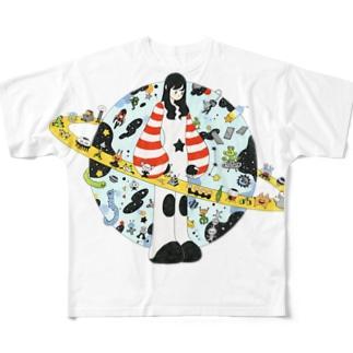 楽しい宇宙 Full graphic T-shirts