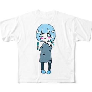 水色担当(推し)のキャラ Full graphic T-shirts