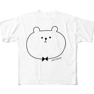 シンプルくま Full graphic T-shirts