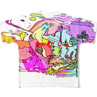 ねむい Full graphic T-shirts