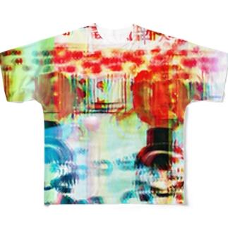 歌舞伎町であいしてね Full graphic T-shirts