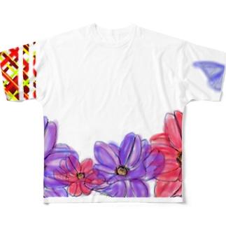 ちょうちょ Full graphic T-shirts