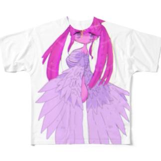 欠損天使ちゃん Full graphic T-shirts