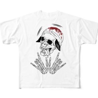 スカルブラピさん Full graphic T-shirts