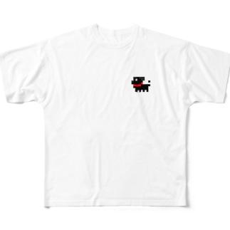 パグ式会社でやってます Full graphic T-shirts