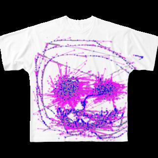 CHARLII_k's Designのベクトルの悪魔 Full graphic T-shirts