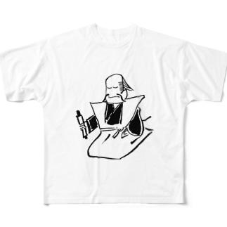 JUNSEN(純仙)江戸 浮世絵 免許皆伝 Full graphic T-shirts