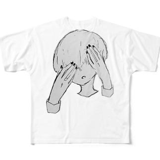暗闇まっしゅくんのマッシュヘアー Full graphic T-shirts