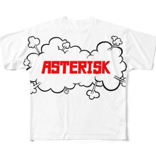 アスタリスク Full graphic T-shirts