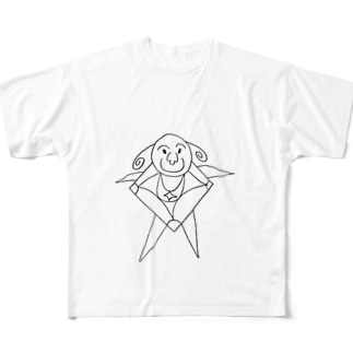 JUNSEN(純仙)ヒロゲッタリーノ Full graphic T-shirts