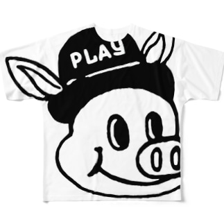 PLAY PIG  W ① Full graphic T-shirts