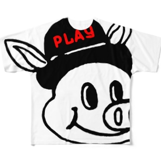 PLAY PIG R ① Full graphic T-shirts