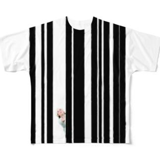 ストライプ Full graphic T-shirts
