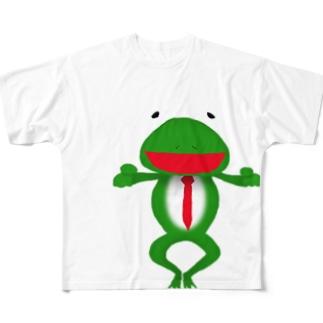 ざまぁガエル Full graphic T-shirts