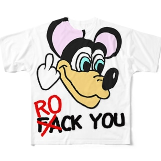 ROCK MOUSE ① Full graphic T-shirts