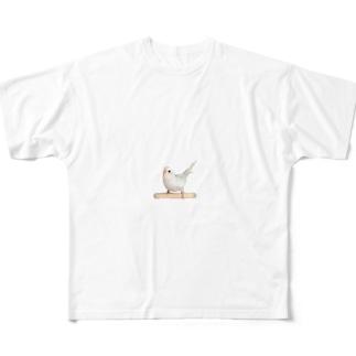セキセイインコ「シャチホコ!」 Full graphic T-shirts