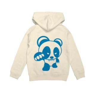 BASEfor PANDA Blue Hoodies
