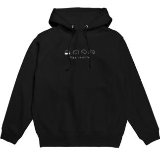 FEZ INVICTAのゆるロゴ フーディー 白ロゴ Hoodies
