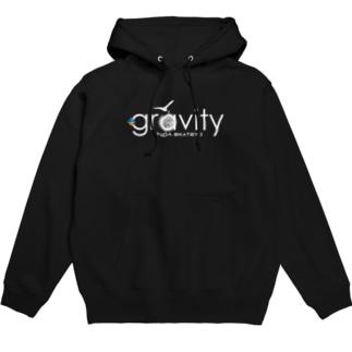 GravityWhitelogo ver2 Hoodies