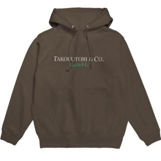 TACOBUTORI 白×緑  黒用 Hoodie