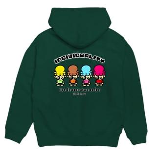 「INDIVIDUALITY」 mascot baby Hoodies