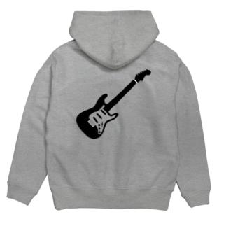 musicshop BOBのギタァ - GUITAR Hoodiesの裏面