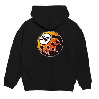 FIFTY-FOUR FIRE BALL RED Hoodies