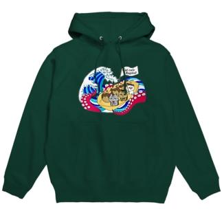 猫カフェラグドールたこ焼きデザイン Hoodies