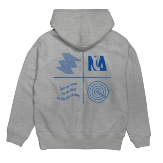 NCA design foody (blueプリント) Hoodies