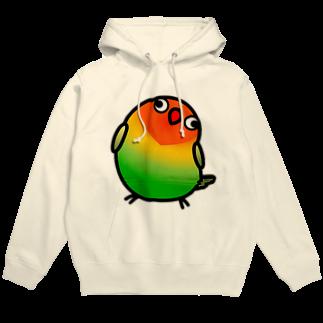 Cody the LovebirdのChubby Bird ルリゴシボタンインコフーディ