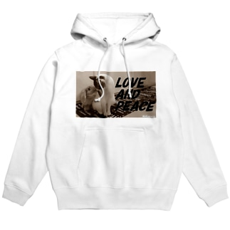 LOVE AND PEACE クラッシックVer Hoodies