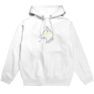 MMC-inu White Hoodies