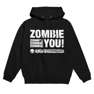 Zombie You! (white print) フーディ