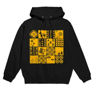 patchwork(yellow) フーディ