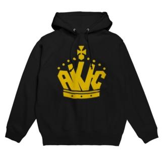 AKI-C王冠ロゴ フーディ