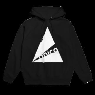 anica storeのanica name logoフーディ