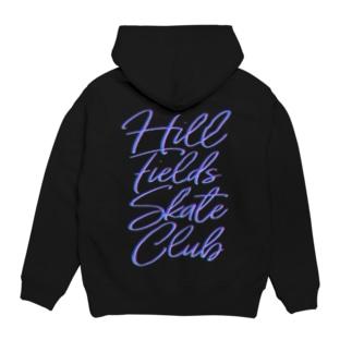 Hill Fields Skate Club Neon フーディ
