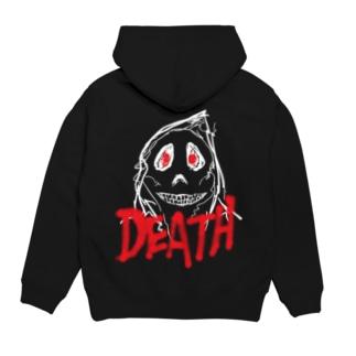 DEATH[デジタル]白.ver シリーズ Hoodies