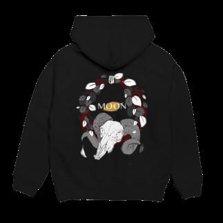 leaf【MOON】の灰色の葉 Hoodies