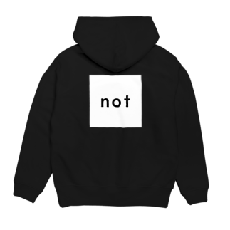 notのnot_logo wh Hoodiesの裏面