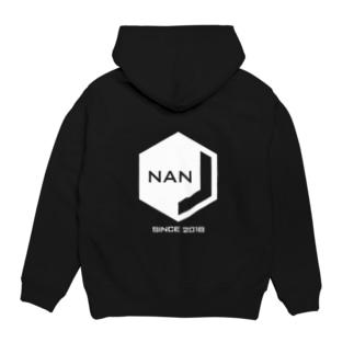 NANJCOIN公式ロゴ入り(背面白地) Hoodies