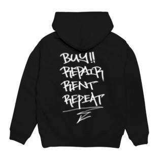 buy.repair.rent.repeat Hoodies