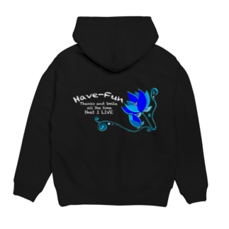 HaveーFun Lotus青系パーカー Hoodies